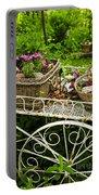 Flower Cart In Garden Portable Battery Charger