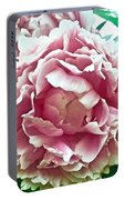 Flower In Blues Portable Battery Charger