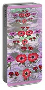 Flower Mania Anemone Fantasy Wave Design Created Of Garden Colors Unique Elegant Decorations Portable Battery Charger