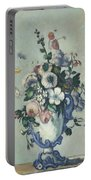 Flowers In A Rococo Vase Portable Battery Charger