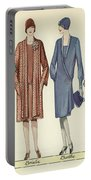 Four Flappers Modelling French Designer Outfits, 1928  Portable Battery Charger
