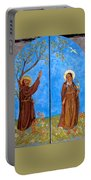 Francis And Claire Triptych Portable Battery Charger