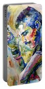 Freddie Mercury Watercolor Portable Battery Charger