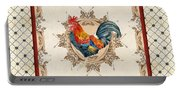 French Country Roosters Quartet Cream 2 Portable Battery Charger