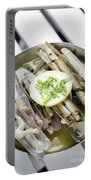 Fresh Razor Shell Seafood Steamed In Garlic Herb Wine Sauce Portable Battery Charger