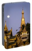 Full Moon In Burma Portable Battery Charger