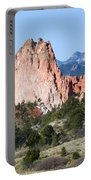 Garden Of The Gods Park In Colorado Springs In The Morning Portable Battery Charger
