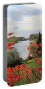 Garrick Temple On The River Thames At Hampton Portable Battery Charger