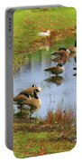 Geese Lake Fall  Portable Battery Charger