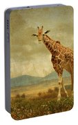 Giraffes In The Meadow Portable Battery Charger
