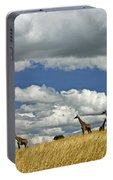 Giraffes On The Horizon Portable Battery Charger