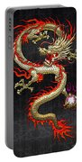 Golden Chinese Dragon Fucanglong  Portable Battery Charger