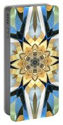 Golden Flower Abstract Portable Battery Charger