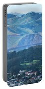 Golden Gate Bridge View From Twin Peaks San Francisco Portable Battery Charger