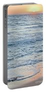 Golden Sunset And Ocean Horizon Portable Battery Charger