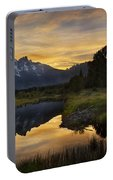 Grand Teton Sunset Reflections Portable Battery Charger