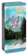 Grand Tetons From The Snake River Portable Battery Charger