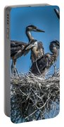 Great Blue Heron On Nest Portable Battery Charger