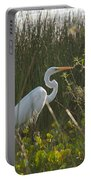 Great Egret At Coba Village Portable Battery Charger
