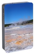 Great Fountain Geyser In Yellowstone National Park Portable Battery Charger
