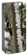 Great Spotted Woodpeckers Portable Battery Charger