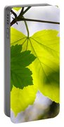 Green Leaves Portable Battery Charger