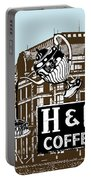 H And C Coffee Sign Roanoke Virginia Portable Battery Charger