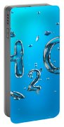 H2o Formula Made By Oxygen Bubbles In Water Portable Battery Charger