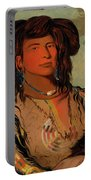 Ha-won-je-tah, One Horn, Head Chief Of The Miniconjou Tribe Portable Battery Charger