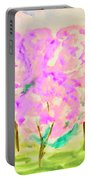 Hand Painted Picture, Spring Garden Portable Battery Charger