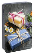 Handmade Soaps With Herbs Portable Battery Charger