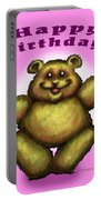 Happy Birthday Bear Portable Battery Charger