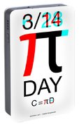 Happy Tau And Pi Day Portable Battery Charger