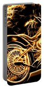 Harley-davidson Portable Battery Charger by Aaron Berg
