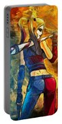 Harley Quinn Spicy - Van Gogh Style Portable Battery Charger