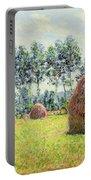 Haystacks At Giverny Portable Battery Charger