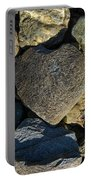 Heart Shaped Stone Loch Fyne  Portable Battery Charger