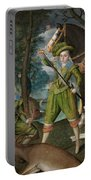 Henry Frederick Prince Of Wales With Sir John Harington In The Hunting Field Portable Battery Charger