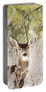 Herd Of Mule Deer In Deep Snow Portable Battery Charger