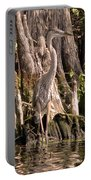 Heron And Cypress Knees Portable Battery Charger