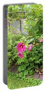 Hibiscus In The Garden Portable Battery Charger