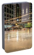 Holiday Scenes In Uptown Charlotte North Carolina Portable Battery Charger