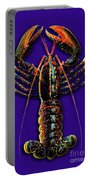 Homarus Vulgaris Flying On The Purple Portable Battery Charger