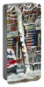 Achetez Les Meilleurs Peintures De Scenes De Montreal En Hiver Winter Scene Paintings Portable Battery Charger