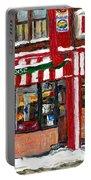 Original Montreal Paintings For Sale Peintures A Vendre Restaurant La Quebecoise Deli Portable Battery Charger