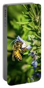 Honey Bee On Bush Portable Battery Charger