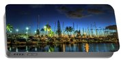 Honolulu Harbor By Night Portable Battery Charger