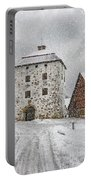 Hovdala Castle Gatehouse In Winter Portable Battery Charger