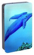 Humpback Mother Whale And Calf #21 Portable Battery Charger