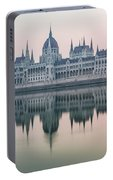 Hungarian Parliament In The Morning Portable Battery Charger